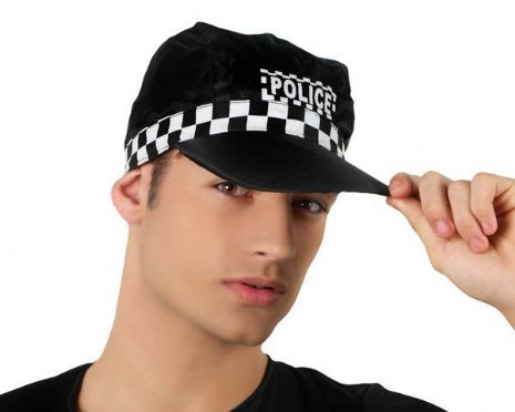 Hat Police Cap Cop Detective Policeman Law Officer